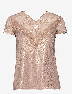 T-shirt ss - VINTAGE LEOPARD GOLD FOIL PRINT