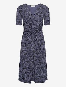 Dress - midi kjoler - true navy rose print