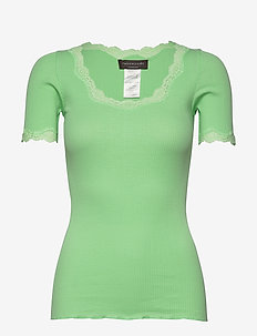 Organic t-shirt regular ss w/ rev,v - t-shirts - green ash