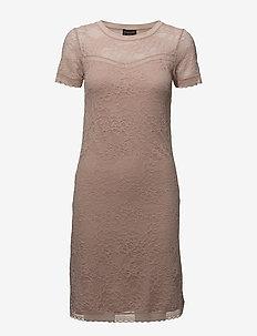 Dress ss w/lace - VINTAGE POWDER