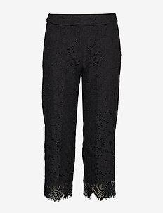 Trousers - casual housut - black