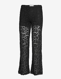 Trousers - spodnie proste - black