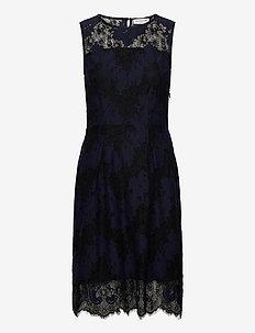 Dress - midi kjoler - navy w/ black
