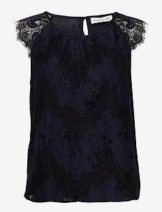 Top - blouses zonder mouwen - navy w/ black