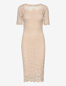 Dress ss - sukienki do kolan i midi - whisper beige