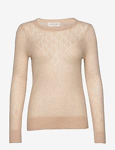 Pullover ls - pulls - warm beige