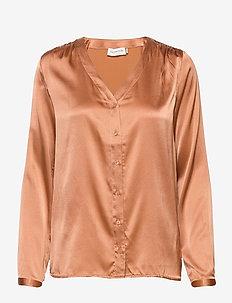 Shirt ls - blouses med lange mouwen - café au lait
