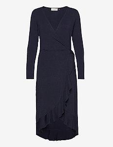Dress ls - omslagskjoler - blue whirlwind print