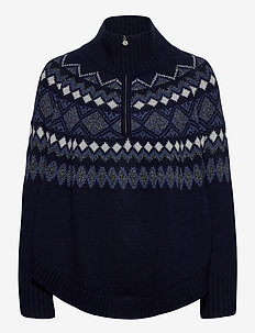 Poncho - gensere - navy light blue w/ dark shimmer