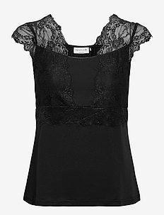 Top - blouses zonder mouwen - black