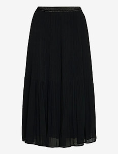 Skirt - midinederdele - black