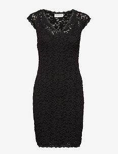 Dress ss - koronkowe sukienki - black