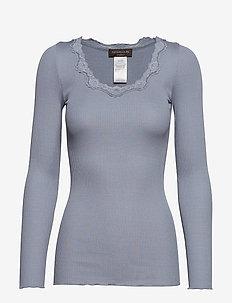 Silk t-shirt regular ls w/rev vinta - TRADEWINDS