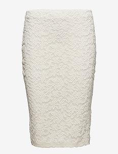 Skirt - midi-röcke - ivory