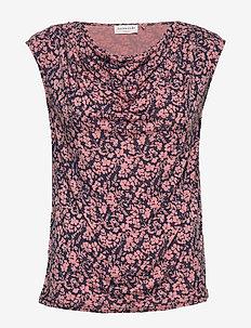 T-shirt ss - TERRACOTTA SMALL FLORAL PRINT