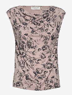 T-shirt ss - VINTAGE POWDER ROSE PRINT