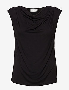 T-shirt ss - sleeveless blouses - black