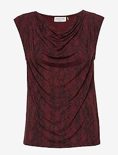 T-shirt ss - SOFT WINE PYTHON PRINT