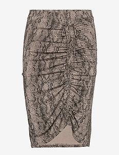 Skirt - GREY PYTHON PRINT
