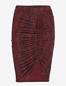 Skirt - SOFT WINE PYTHON PRINT