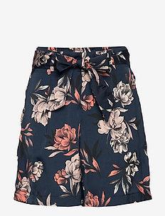 Shorts - casual shorts - navy spring blossom print