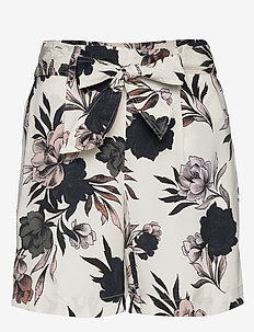 Shorts - casual shorts - ivory spring blossom print