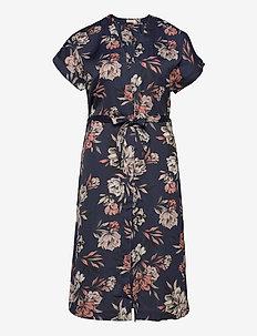 Dress ss - slå-om-kjoler - navy spring blossom print