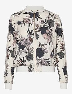 Jacket ls - ivory spring blossom print