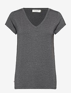 T-shirt ss - t-shirts - dark grey melange