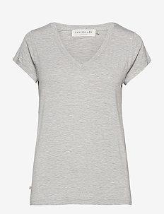 T-shirt ss - t-shirts - light grey melange