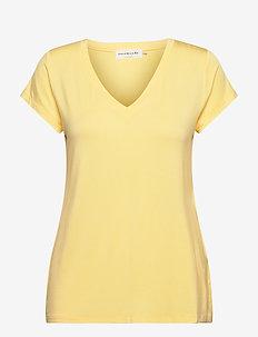 T-shirt ss - t-shirts - vanilla yellow