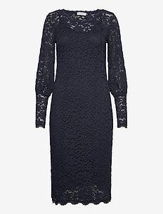 Dress ls - cocktailklänningar - blueberry