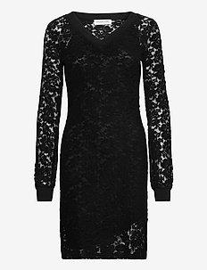 Dress ls - short dresses - black