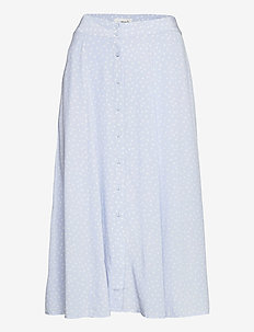Skirt - spódnice długie - heather sky organic dot print