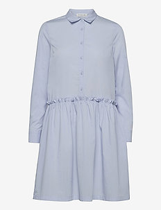 Organic cotton dress ls - everyday dresses - heather sky