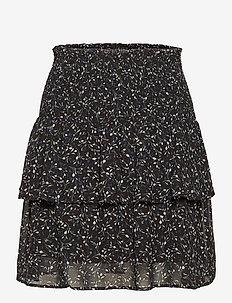 Recycled polyester skirt - röcke - black tulip print