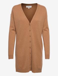 Wool & cashmere cardigan ls - cardigans - almond