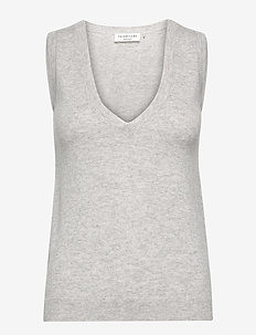 Vest - gebreide vesten - light grey melange