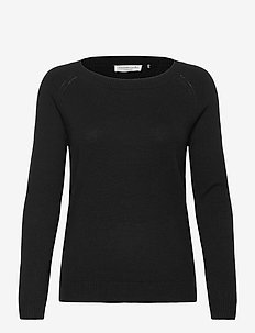 Pullover ls - tröjor - black