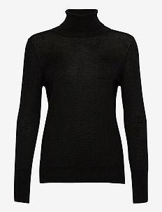 Pullover ls - turtlenecks - black