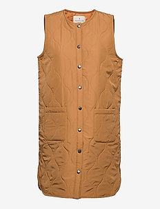Recycled vest - puffer vests - almond