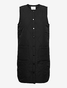 Recycled vest - puffer vests - black