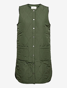 Recycled vest - puffer vests - dark pine