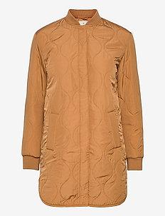 Recycled jacket ls - quiltede jakker - almond