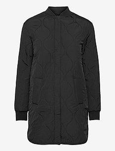 Recycled jacket ls - quiltade jackor - black
