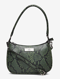 Clutch - BLACK GREEN PYTHON PRINT
