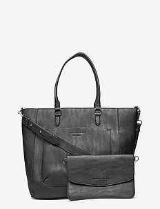 Bag - shoppere - black silver