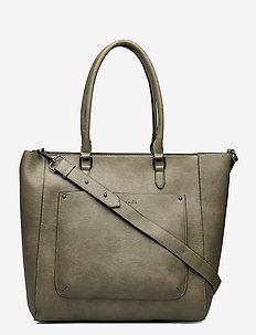 Bag - fashion shoppers - leaf green black oxid