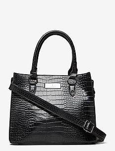 Bag medium - top handle - black croc oxid