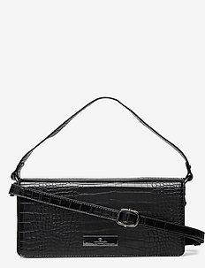 Bag small - skuldervesker - black croc oxid
